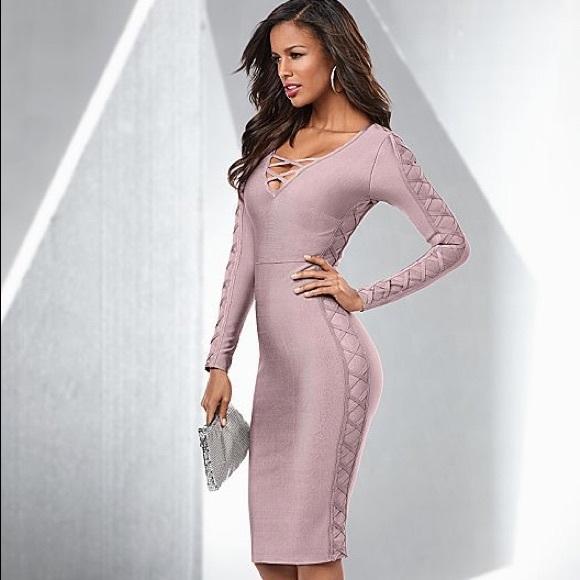 Venus Dresses Slimming Lace Up Dress Poshmark